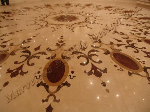 natural marble medallion
