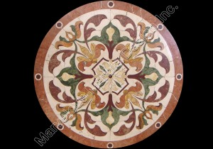 water jet cut marble medallion