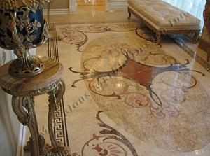 Italian marble floor design