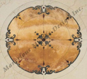 custom designed marble medallion